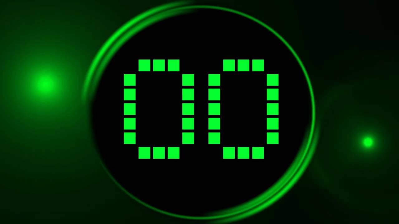 Green Countdown Timer 30 sec ( v 188 ) LED clock timer with sound ...