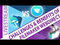 FileMaker WebDirect - Challenges and Benefits: Here we will cover different aspects of what it takes to use WebDirect as opposed to Pro.  So, if you have any questions feel free to join us, and get some answers.