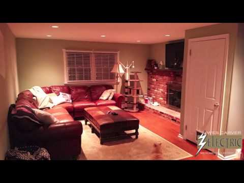 Family Room Recessed Lighting Installation – Montgomery County, PA
