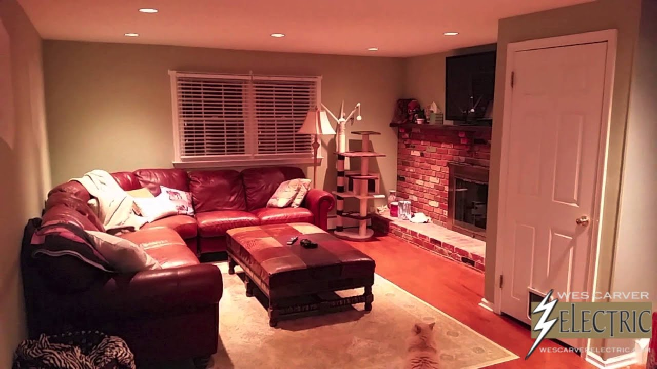 Family Room Recessed Lighting Installation Montgomery County Pa