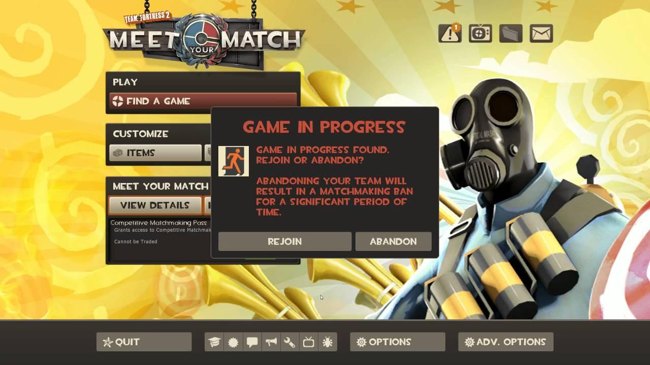 tf2 matchmaking abandon