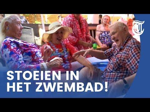 Bejaardenpoolparty groot succes: 'Ze vliegen in de polonaise voorbij'