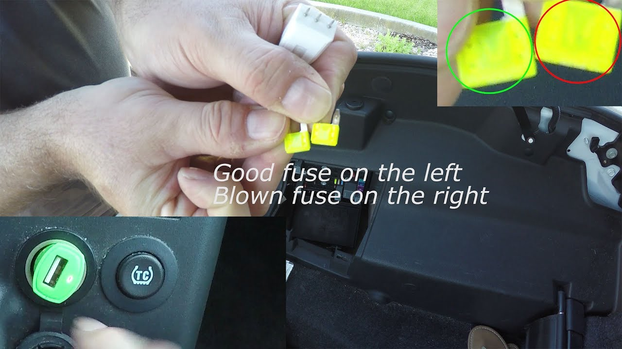 my phone wont charge how to replace cigarette lighter fuse in pontiac g6 auxiliary power outlet [ 1280 x 720 Pixel ]