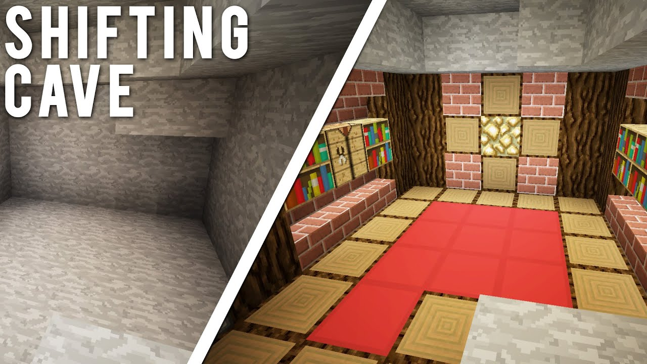 Minecraft  The Transforming Cave  ULTIMATE Hidden Base    YouTube. Cool Secret Room Ideas Minecraft. Home Design Ideas