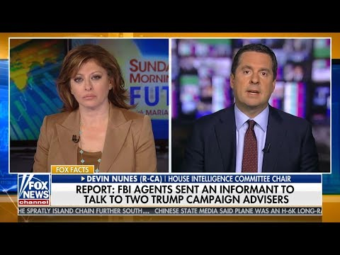 A SPY RING IN THE TRUMP CAMPAIGN IS A RED LINE Devin Nunes on Maria Bartiromo May 20 2018 HD 720p