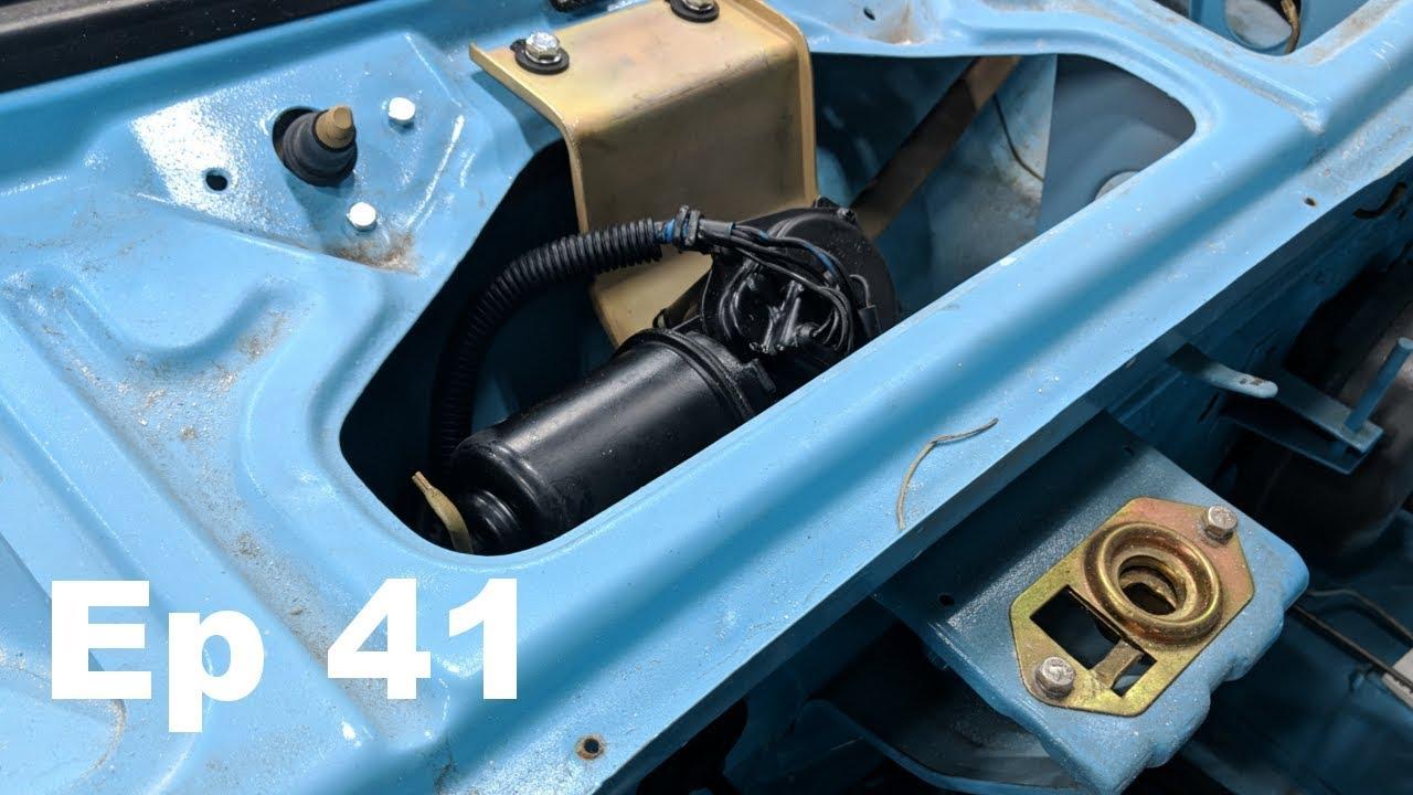 honda wiper motor upgrade installed in the datsun    - datsun 240z build -  ep 41 - panchos garage