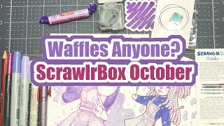 Waffles Anyone? | October Scrawlr Box | Mystery Art Supplies