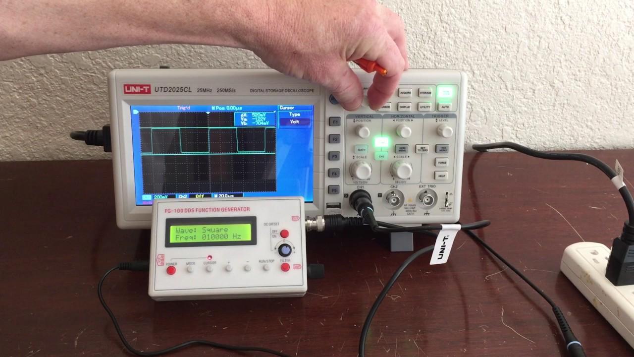 Using an oscilloscope and arduino youtube