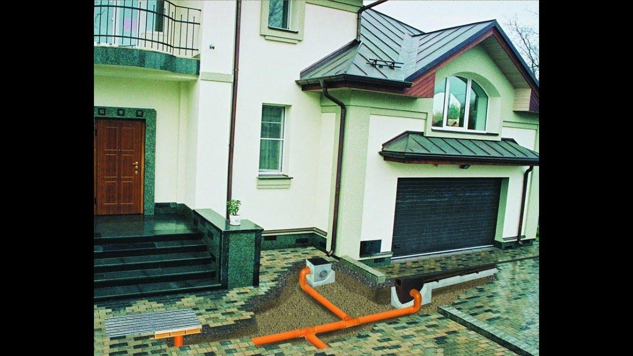 Принцип устройства системы ливневого внешнего водоотвода для частного строительства