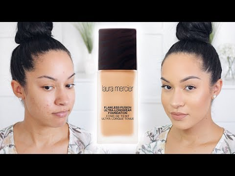 NEW ULTRA LONGWEAR Foundation | Laura Mercier Flawless Fusion Review + Demo