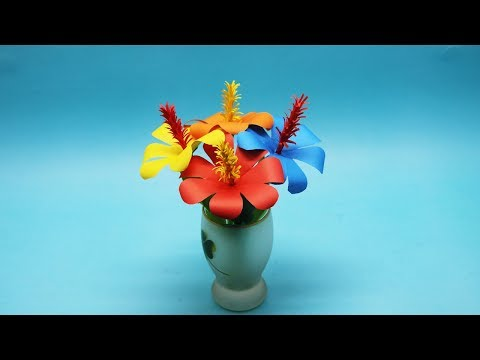 How to Make Beautiful Orchid Flower Home Decor with Paper  Making Paper DIY Orchid Flower Step by S
