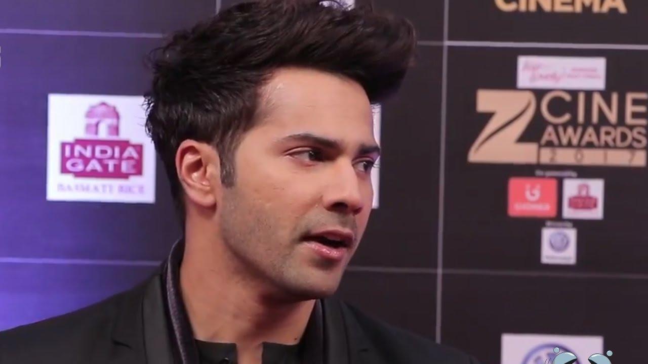 varun dhawan new hairstyle look at zee cine awards 2017