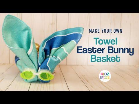 Towel Easter Bunny Basket - Make your own