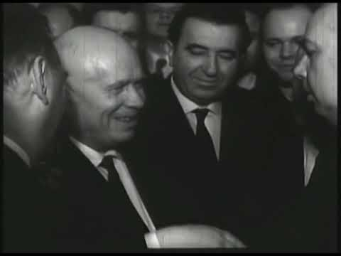 Solzhenitsyn And Khrushchev And Sholokhov in Kremlin, Moscow. video HD. Солженицын и Хрущёв в Кремле