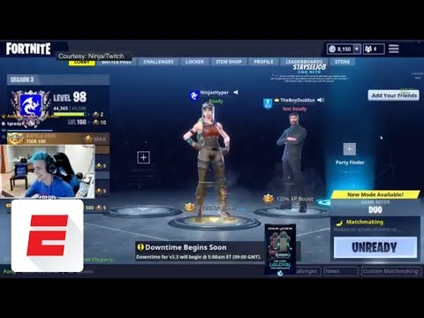 The epic late-night Fortnite stream featuring Drake, Juju Smith-Schuster, Ninja, Travis Scott | ESPN
