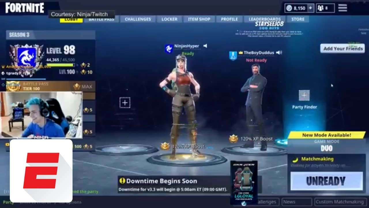 The Epic Late Night Fortnite Stream Featuring Drake Juju Smith