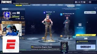The epic late-night Fortnite stream featuring Drake, JuJu Smith-Schuster, Ninja, Travis Scott | ESPN thumbnail
