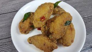 Salted Egg Chicken Wings (咸蛋鸡翅)