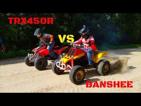 Honda TRX450R vs Yamaha Banshee