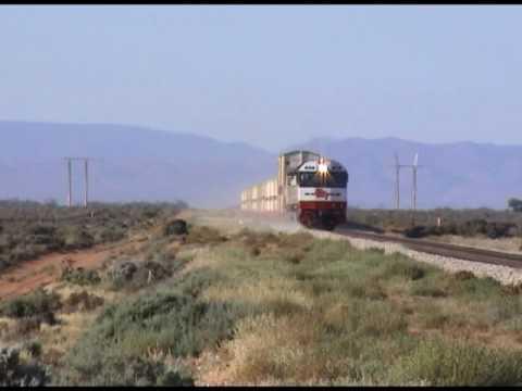 Australian trains : 3GP1 approaching Port Augusta