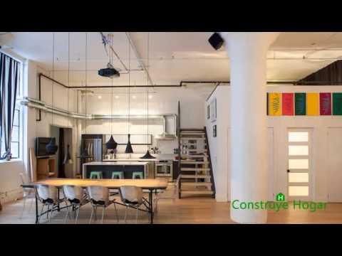 Diseo de interiores de apartamento estilo industrial