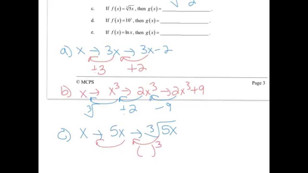 #1-7 Honors Algebra 2 Exam Review Sem A 2015-2016