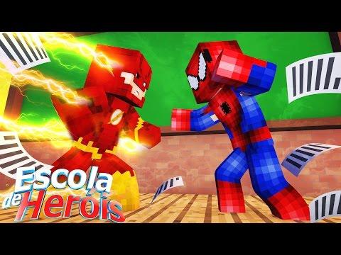 Minecraft: BRIGA NA ESCOLA! #03 ( ESCOLA DE HERÓIS )