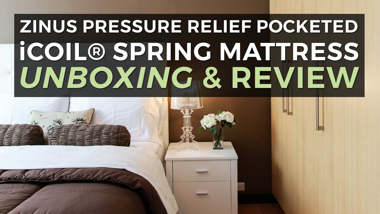 Zinus Mattress Icoil Unboxing And Overview Youtube