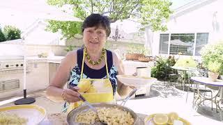 Pane al Pomodoro, Caprese e Fusilli al limone with Carmela