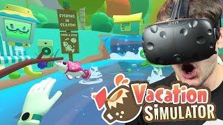 PODWODNE PRZYGODY I ŁOWIENIE RYB - Vacation Simulator #2 (HTC VIVE VR)