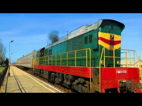 Пригородный поезд Армянск-Феодосия. Отправление со ст. Армянск (Республика Крым)