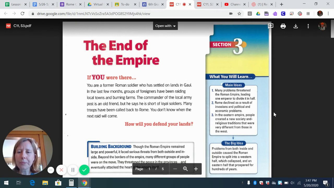 "Chapter 11 Section 3 ""The End of the Empire"" Part 1 pgs ..."