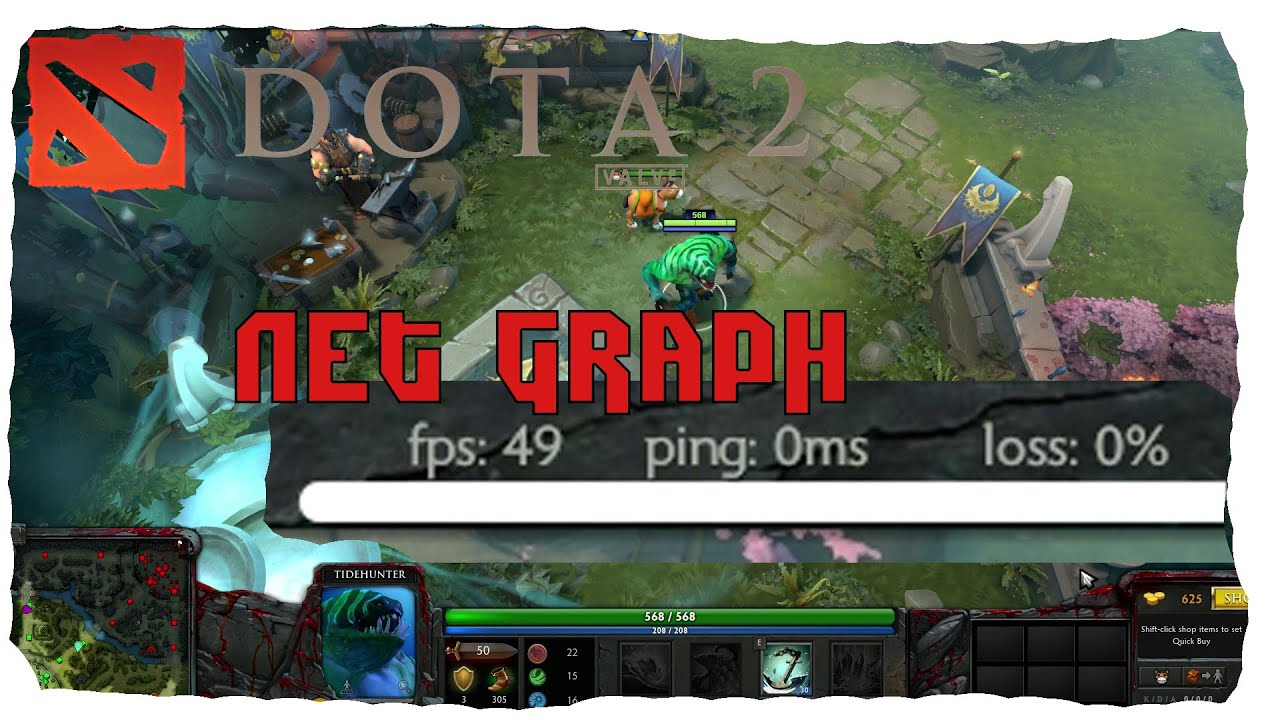 dota 2 reborn beta net graph ping fps package loos tutorial