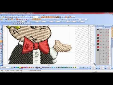 wilcom embroidery studio 1.5 hacer ponchados desde cero