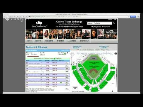 Eminem & Rihanna Tickets Detroit MI Comerica Park