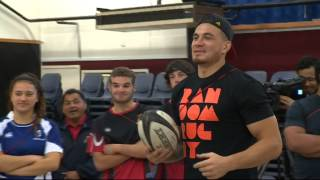 Sonny Bill Williams aims to inspire kids with story of his childhood