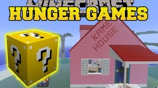 Minecraft: DBZ KAME HOUSE HUNGER GAMES - Lucky Block Mod - Modded Mini-Game