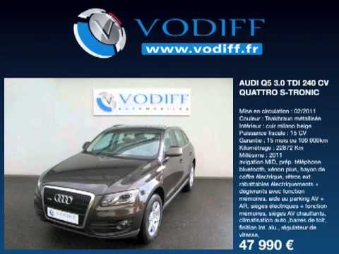 vodiff audi occasion alsace audi q5 3 0 tdi 240 cv quattro s tronic youtube. Black Bedroom Furniture Sets. Home Design Ideas