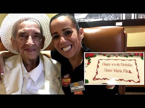 Nun Celebrates 100th Birthday at Denny's