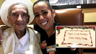 Nun Celebrates 100th Birthday at Denny