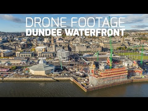 Dundee Waterfront and RRS Discovery Drone Footage by Airborne Lens