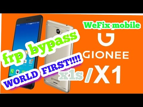 GIONEE X1/ X1S NOUGAT 7 0 FRP 100%(GOOGLE ACCOUNT REMOVE)FRP UNLOCK 100%  BYPASS   NO BOX REQUIRED by WeFix mobile