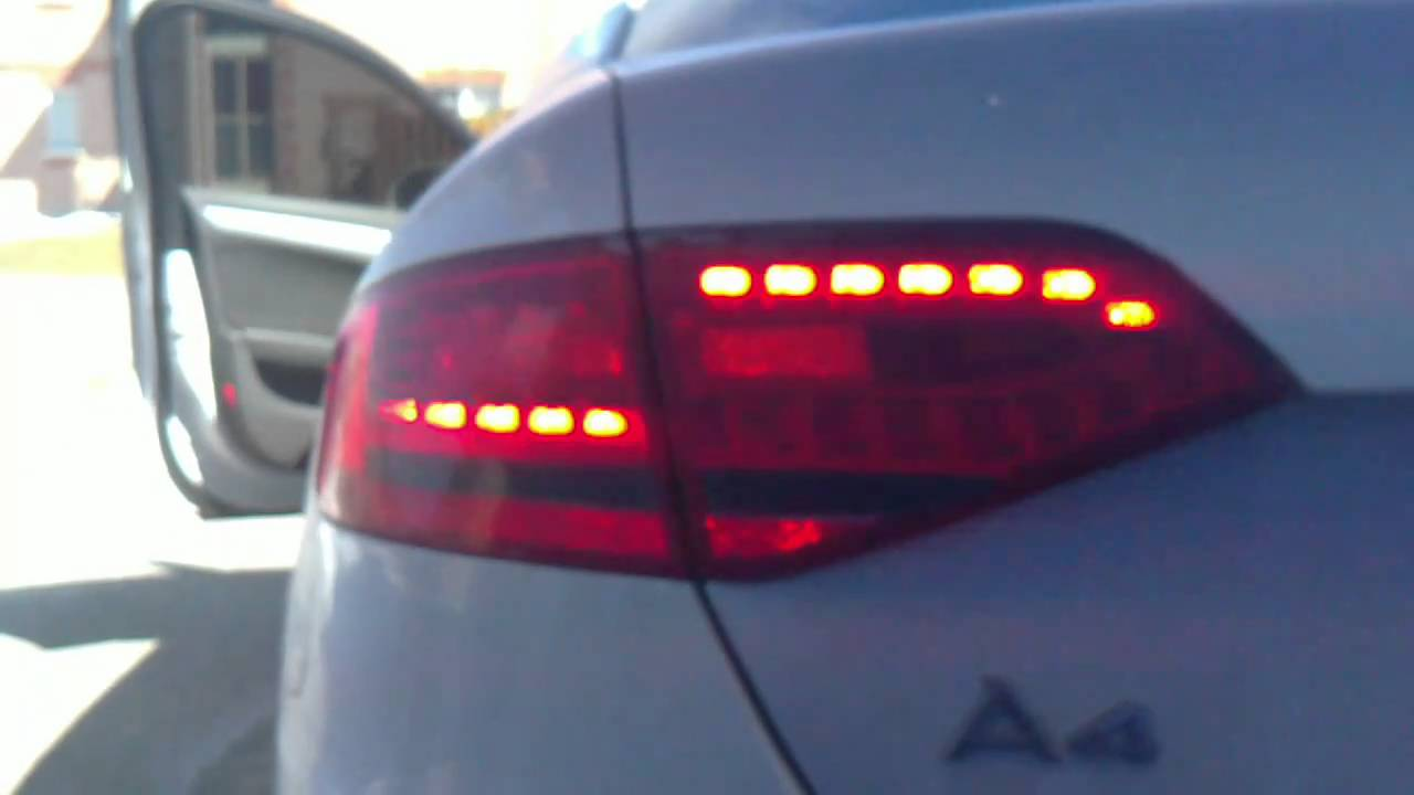 audi a4 b8 led na taillights to euro conversion youtube. Black Bedroom Furniture Sets. Home Design Ideas