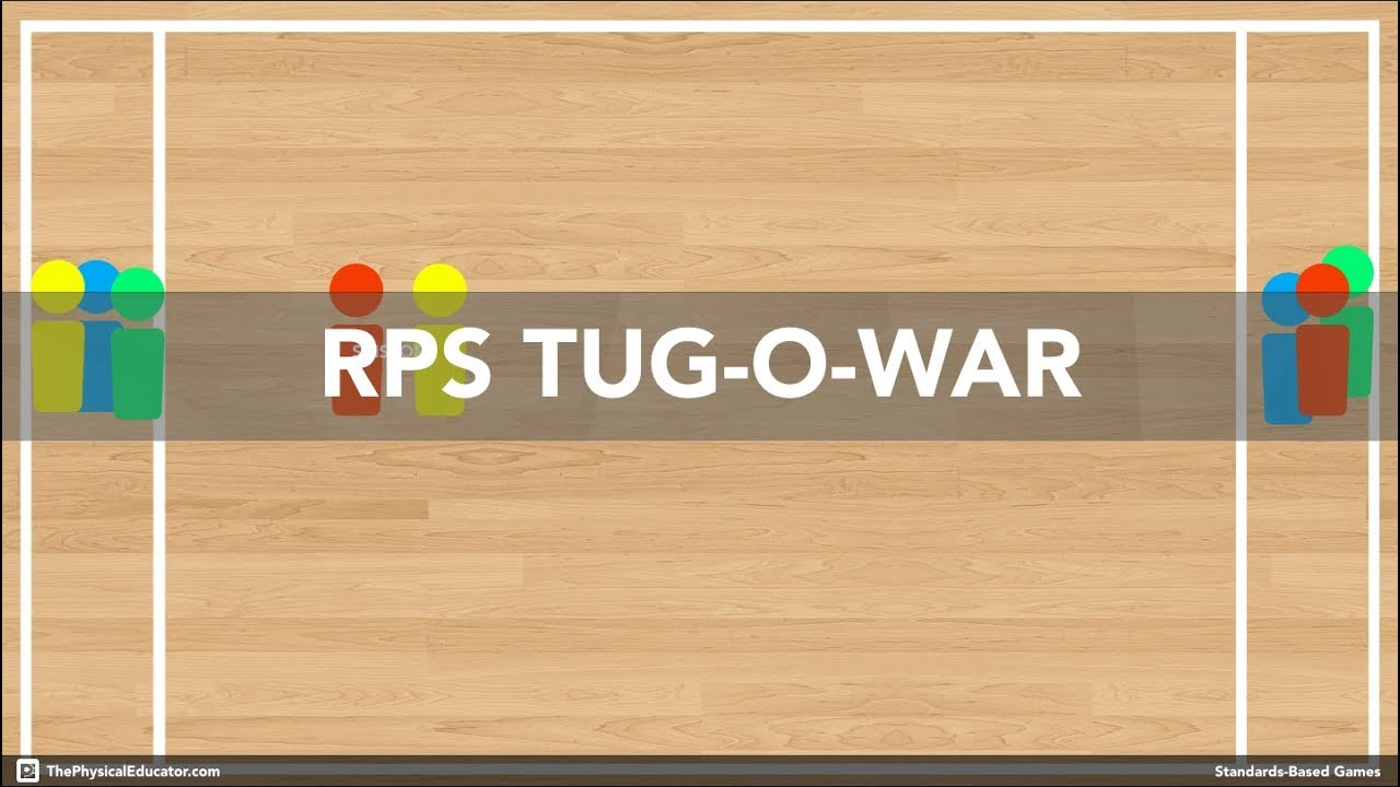 Rock Paper Scissors Tug-O-War - Physical Education Game (Health & Fitness)