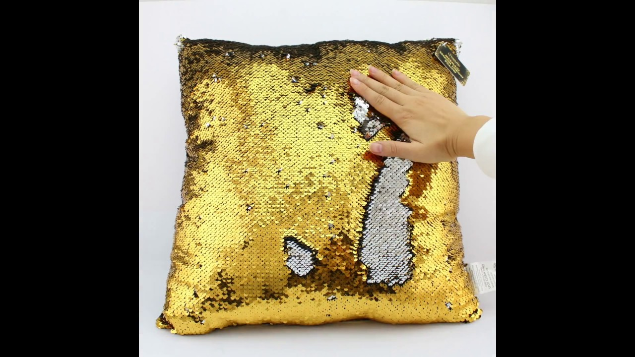 mermaid sequin colour changing throw pillow finelife - Color Changing Pillow