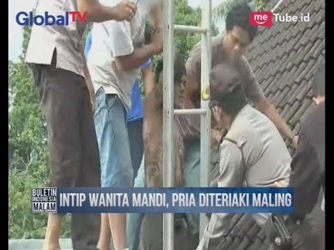 Intip Wanita Mandi, Seorang Pria Masuk Kubangan Lumpur Limbah Rumah Warga - BIM 16/03