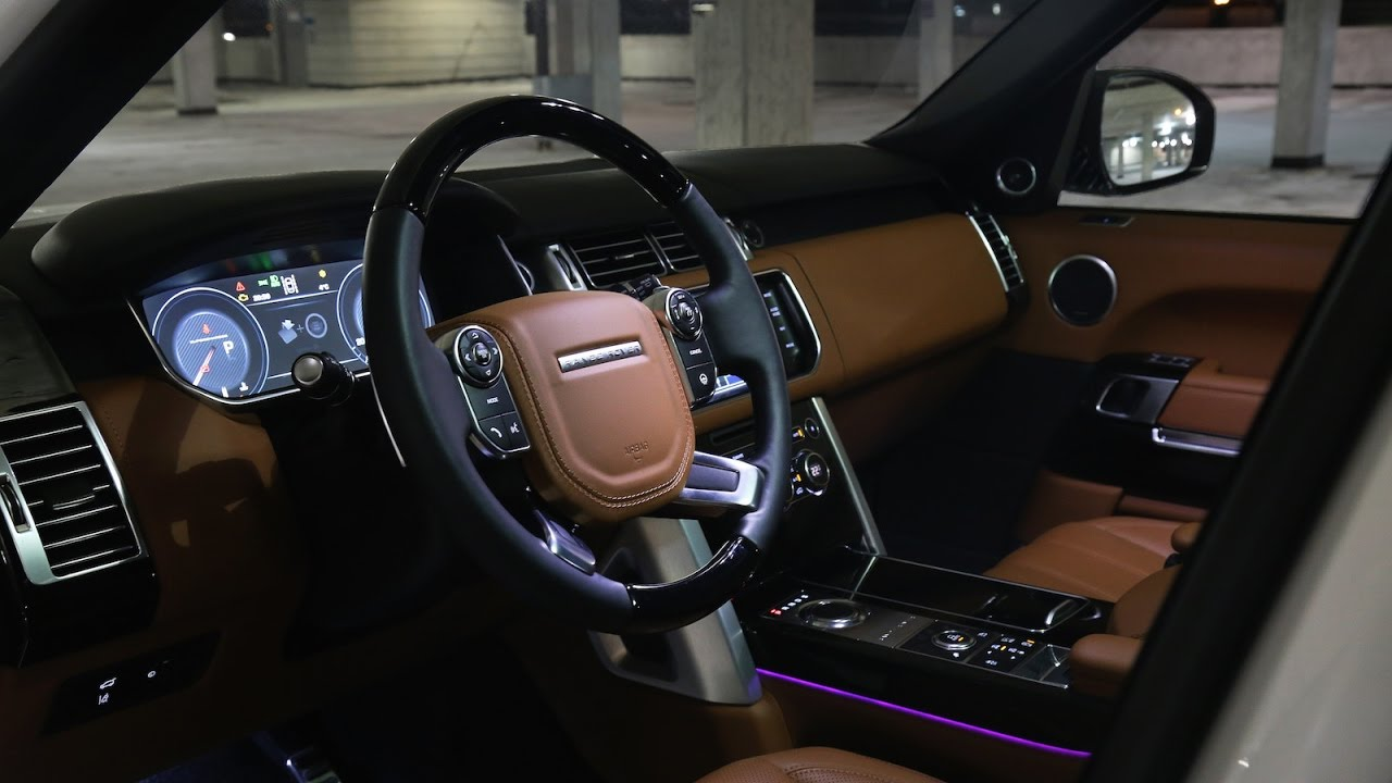2016 2017 range rover vogue interior review at night ambient lighting youtube