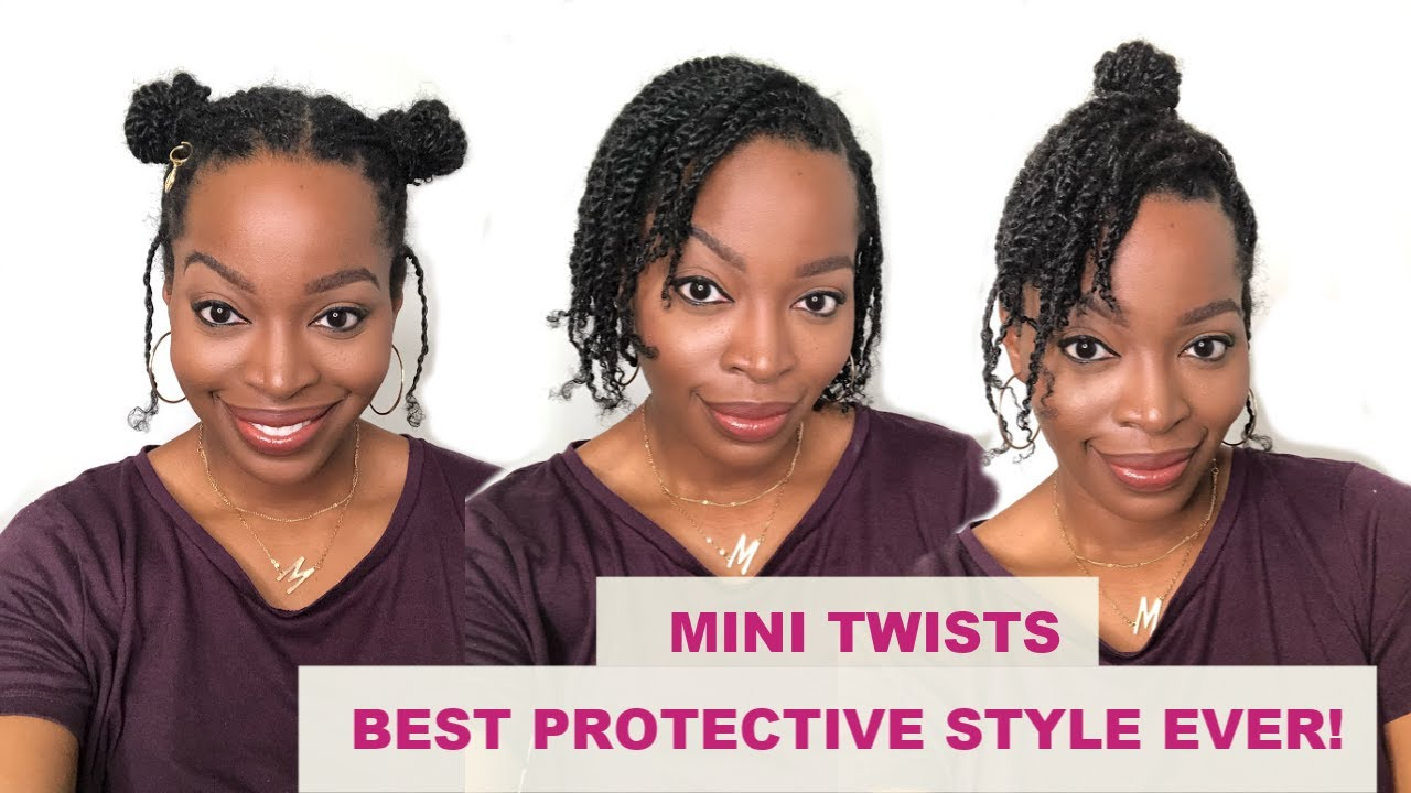 Best Protective Style Ever Grow Your Natural Hair With Mini Twists Easy Hairstyles For Quarantine Youtube