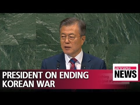 President Moon presses UN members on need to officially end Korean War