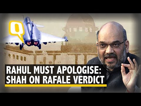 Rafale Deal: 'Rahul Should Apologise,' Says Shah After SC Verdict | The Quint